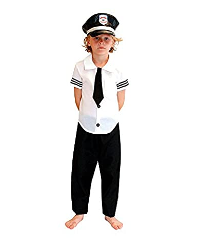 Airline Pilot Costume De Déguisement - Moollyfox Garçon Costume Cosplay Airline Pilot Air