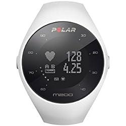 Polar M200 Reloj Running con GPS, Unisex Adulto, Blanco, M-L