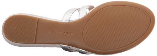 Nine West extérieur synthétique Robe Sandal silver
