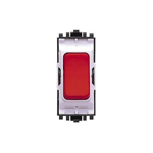 Sp Kippschalter (MK Electric Aspect 2-Wege-SP-Kippschalter-Modul, 20 A, Rot)
