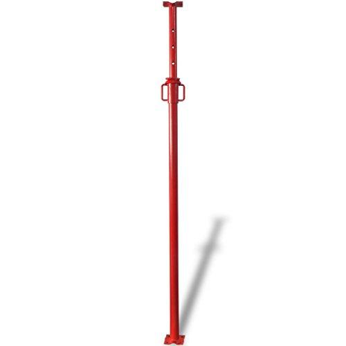Festnight Puntal 280 cm Color Rojo 166-280 cm