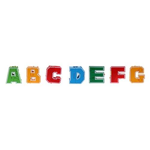 Sharplace Abcdefg Englische Buchstaben Form Transformierender Roboter Kinder Spielzeug - 7Pcs/Set
