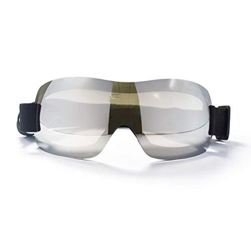 kapokilly Haustier-Sonnenbrille, Hundebrille Haustier-Brille UV-Schutz-Sonnenbrille für mittelgroße Hunde, Schwarz/Blau/Silber/Gelb