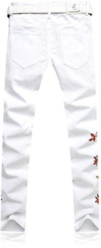 jeansian Herrenmode Casual Pants Jeans-Hose J229 MJB114_White