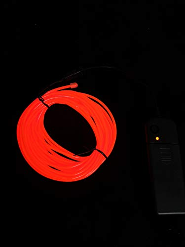 SOUTHSKY EL Wire 3M de vert de néons waterproof conduit intérieur/extérieur des décorations de noël (RED)