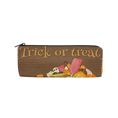 (Bonipe Federmäppchen für Halloween, Kürbis oder Leckerlis, Stiftebox, Reißverschluss)