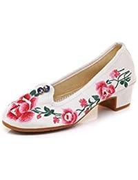 69f0e4c5 Bordado Zapatos/Alpargatas/ Merceditas/Zapatos de Baile con Cubierta de  Raso y pies