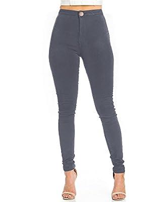Skinny Jeans for Women,EASTDAMO High Waisted Slim Fit Stretch Black Jeans Leggings