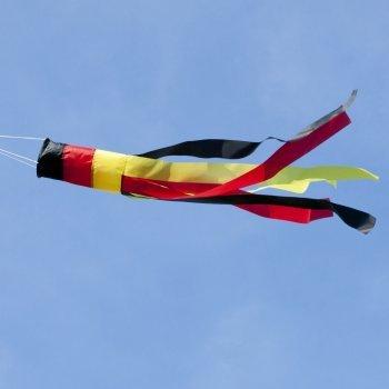 Manche à air - 100 TEAM_GERMANY - résiste aux UV et aux intempéries - Ø11cm, Longueur : 100cm - incl. émerillon à roulement à billes