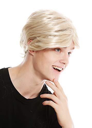 WIG ME UP - PW0174-ZA83 Perücke Herren kurz Scheitel Karneval alt Opa blond goldblond