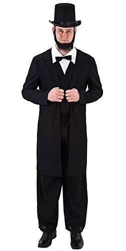 ham Lincoln USA President 4. Juli Unabhängigkeit Berühmte Politische Person Kostüm Outfit ()