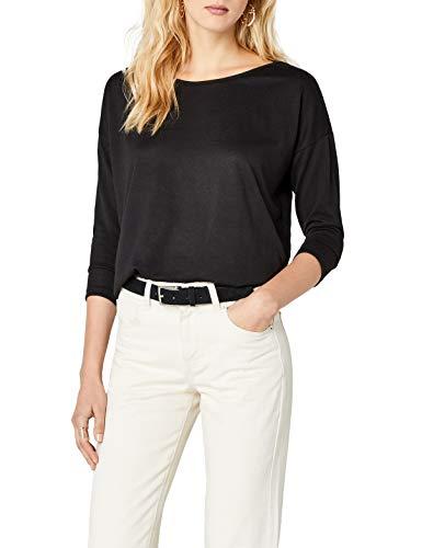 ONLY Damen Langarmshirt Onlelcos 4/5 Solid Top Jrs Noos, Schwarz (Black), 42 (Herstellergröße: XL)