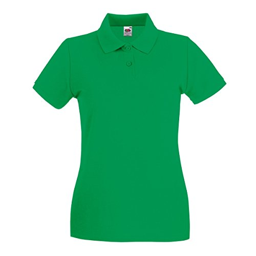 Fruit Of The Loom Damen Poloshirt, Kurzarm Kelly Green