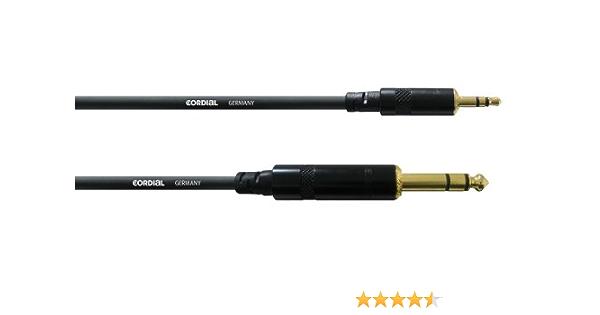 Cordial Stereo Audiokabel Mini Klinke Klinke 1 5 M Musikinstrumente