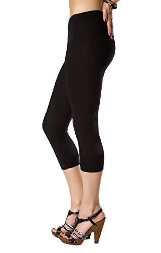 FUTURO FASHION Leggings 3/4 Cotone Extra Comfort Taglie Plus