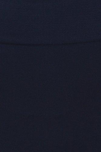 Sakkas Leggins a vita alta in foderati con caldo pile morbido Blu Mare