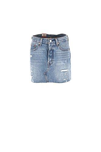 Levis 34963 deconstructed skirt gonne donna denim light blue 26