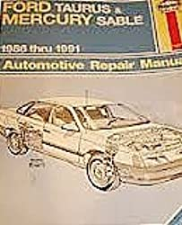 Ford Taurus and Mercury Sable 1986 Thru 1992 Automotive Repair  Manual