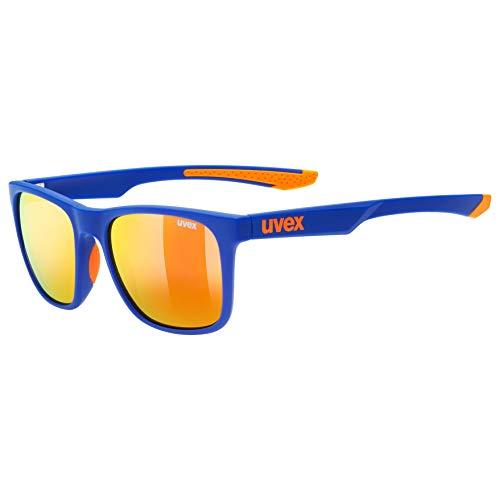 Uvex Erwachsene lgl 42 Sonnenbrille, Blau/Orange, One Size
