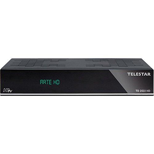 Telestar TD 2522 HDTV Twin-Satelliten-Receiver (HDMI, SCART, USB, PVR Ready, Ethernet, Mediaplayer, Web Portal) schwarz (Zertifiziert und Generalüberholt)