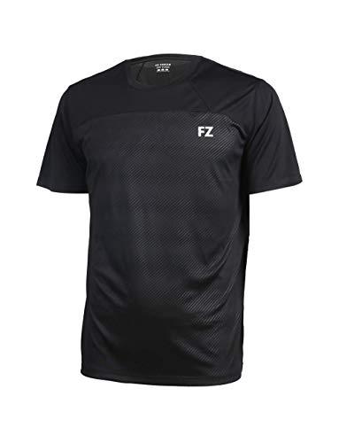 FZ Forza - Sport T-Shirt Helsinki - schwarz, für Herren - geeignet für Fitness, Running, Fußball, Squash, Badminton, Tennis etc. - M -