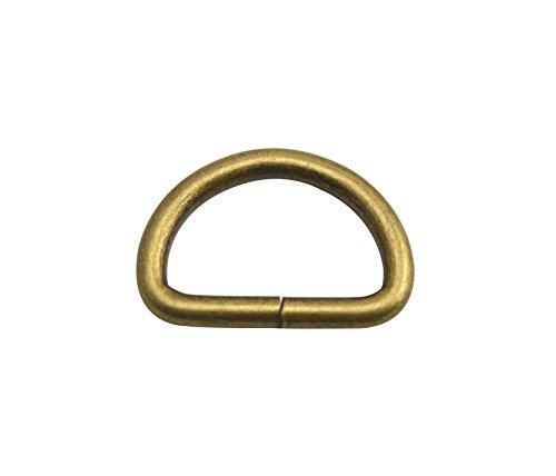 wuuycoky Bronze D Ringe Schnallen D-Ring nicht verklebte für Gurtband Umreifung 7Größe Optional, Inner Diam:1