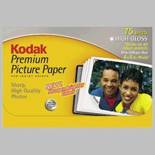 Kodak 8887713 premium picture paper, high gloss, 4 x 6.5 (75 fogli)