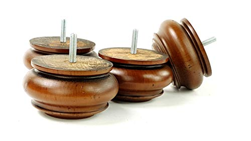 Knightsbrandnu2u 4x Kugelfüße Ersatz Möbel Beine aus Massivem Holz für Sofas, Stühlen, Hockern, Sofas–cwc775, Holz, Braun, M8(8mm) -