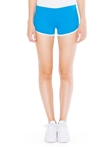 American Apparel Interlock Running Short - Teal / White / XS (American Apparel Running Shorts)
