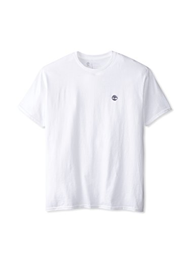 Timberland Mens Classic Embroidered Logo T-Shirt white