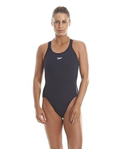 Speedo Damen Badeanzug Essential Endurance Plus Medalist, Blau (Marine), 34 (Herstellergröße: 8) Plus Marine