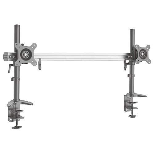 HFTEK 2-Fach Monitorarm Tischhalterung Stand Halterung Halter für 2 Bildschirme von 15-40 Zoll - VESA 75/100 (MP220C-XN)