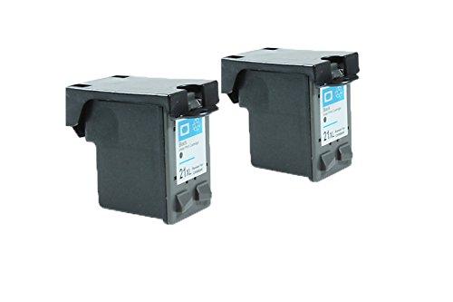 Recycelt für HP DeskJet F 4180 Tinten Sparset Black - Nr.21 / SD366AE XXL - Inhalt: 2 x 24 ml -