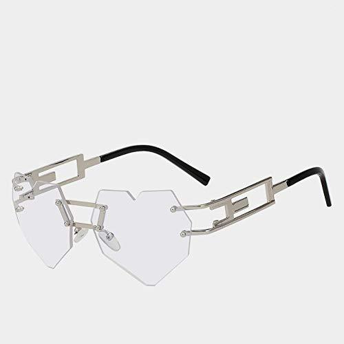 TIANKON Randlose Sonnenbrille Herz Shades Damen Brillen Fashion Damen Brillen Uv400,A5d