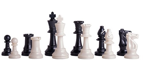 Single Weighted Regulation Plastic Chess Set - Pieces Only - 3.75