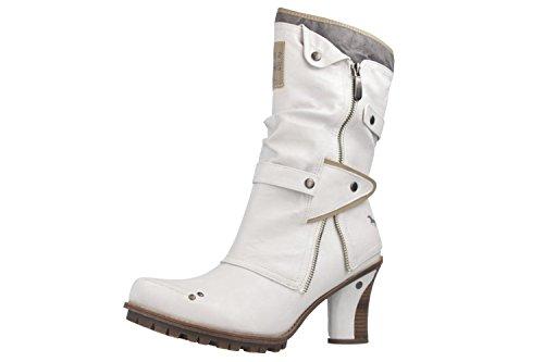 Mustang Shoes Stiefeletten in Übergrößen Off-White 1141-606-100 große Damenschuhe, Größe:43
