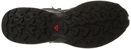 Salomon X Ultra Mid 2, Chaussures de Randonnée Hautes Homme Noir (Black/Black/Aluminium)