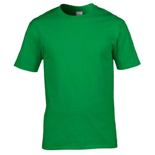 Grün, Herren Shirt (Gildan Premium T-Shirt für Männer (M) (Irisches Grün) M,Irisches Grün)