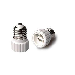 Accmart 220V E27 to GU10 Lamp Light Bulb Base Lampholder Socket Converter Adaptor
