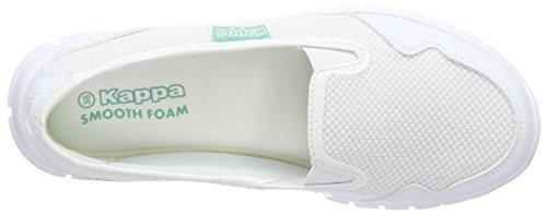 Kappa Gomera Footwear Women, Mesh/synthetic, Ballerines fermées femme Blanc (White/mint)