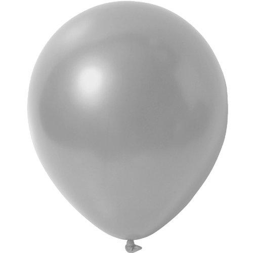 partydiscount24 25 x Luftballons Metallic (Glänzend) Ø 30 cm | Freie Farbauswahl | 23 Ballon Farben (Silber)