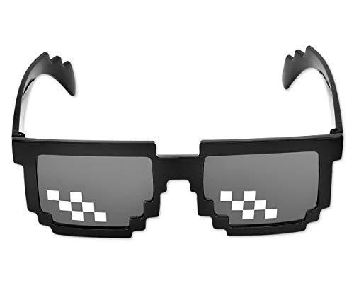 1ece99df52 Shopready Funny Sonnenbrille 8bit pixelbrille Sonnenbrille Cool Brillen  Kreative Gläser Partei Begünstigt - schwarz