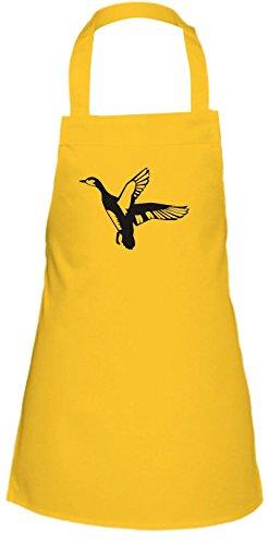 Shirtstown Kinder Latzschürze Tiere Wildgans, Duck, Ente, Goose Farbe gelb -