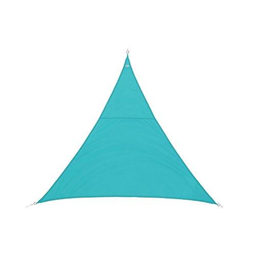 Dreieckiges Sonnensegel 2 x 2 x 2 m aus wasserabweisendem Stoff - Farbe BLAU