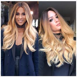 Dantb parrucca lunga ondulata parrucche sintetiche ricci bionde nere ad alta densità stile naturale afro crespo per donna di colore 26 pollici