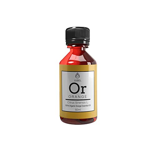 Orangenöl von Jubel | Ätherisches Öl 50 ml | Massageöl, Aromatherapie und Duftöl | Ätherische Öle bio und vegan | Essential Oils gegen Akne | Anti Stress | Alternative zu Aloe Vera Gel -
