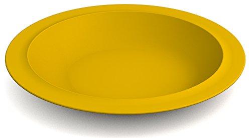 Ornamin Teller tief Ø 22 cm gelb, Melamin | tiefer hochwertiger, stabiler Kunststoffteller | robustes Alltags-Geschirr für Kinder, Camping, Picknick, Gemeinschaftsverpflegung, Großküchen, Institutionen | Speiseteller, Suppenteller