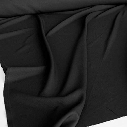 Zu Katze Einfach Kostüm Hause - TOLKO Modestoff | Dekostoff universal Stoff zum Nähen und Dekorieren | Blickdicht, knitterarm | Meterware (Schwarz)