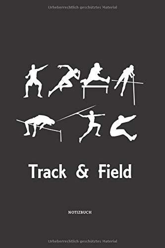 Notizbuch: Track and Field Liniertes Notizbuch ca A5 für Notizen, Skizzen, Zeichnungen, Formeln, als Kalender oder zum Lernen; breites Linienraster; Motiv: Athlet, Läufer, Leichtathletik- & Laufteam