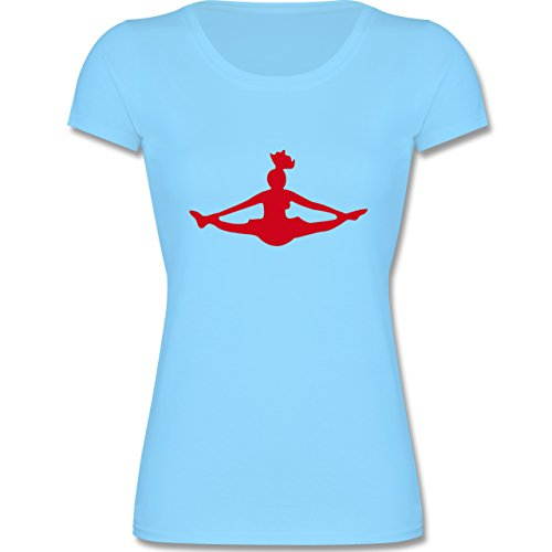 Sport Kind - Cheerleading - 152 (12-13 Jahre) - Hellblau - F288K - Kinder Mädchen T Shirt leicht (Die Für Kinder Cheerleader Outfits)